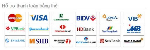 Hỗ trợ thanh toán qua ngân hàng